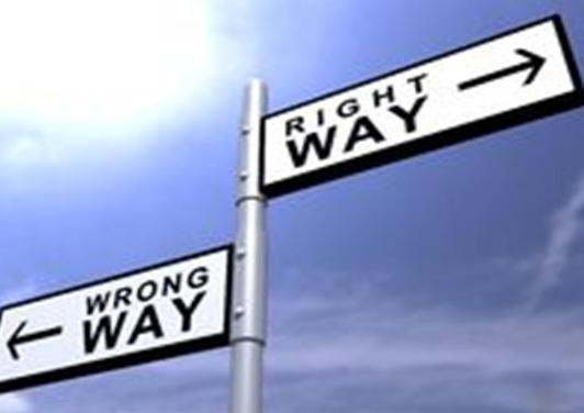 Right or Wrong way